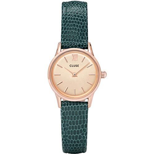 Cluse Damen Analog Quarz Uhr mit Leder Armband CL50029