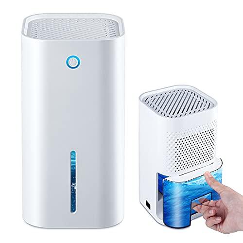 LAMA Luftentfeuchter Elektrisch 850ml Leise Raumentfeuchter Automatischer Entfeuchter mit Transparenter Wassertank Volle Wasserwarnung Dehumidifier für Badezimmer Schlafzimmer Büro Garage Keller RV