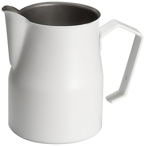 Motta Stainless Steel Coated Frothing Pitcher 254 Fluid Ounce White