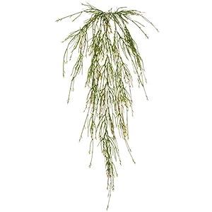 Silk Plants Direct Pencil Fern Hanging Bush (Pack of 12)