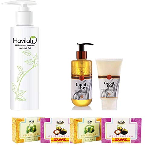Set A68 Havilah Herbal Shampoo 300ml Erbs In a popularity Ranking TOP3 Hair Good Prevent Day