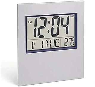 Relógio de mesa e parede digital quadrado data temperatura