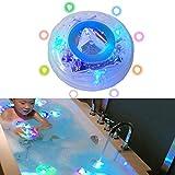 BSMEAN Wasserdichte sich hin- und herbewegende Unterwasserlampe, LED-Disco-Aqua-Glühen-multi Farbblinkendes Badezimmer-Teich-Pool-Badekurort-heiße Wannen-Partei-Nachtlicht