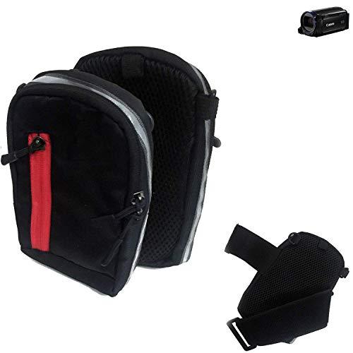 K-S-Trade Fototasche Kameratasche Gürteltasche Schutz Hülle Für Canon Legria HF R68 Case Bag Stoßfest Holster Schwarz 1x