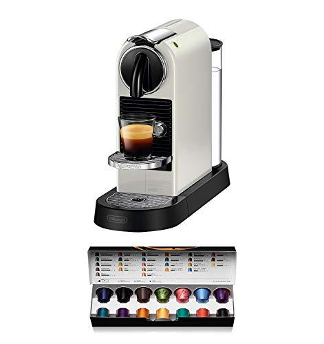 De'Longhi Nespresso Citiz EN167.W Kaffemaschine, Hochdruckpumpe und ideale Wärmeregelung ohne Aeroccino (Milchaufschäumer), Energiesparfunktion, Creme-weiß