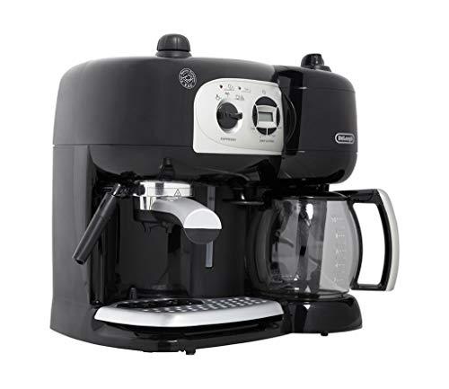 De'Longhi Machine à Café à Pompe et Cafetière Filtre 2-en-1, Machine Expresso BCO264.1, Noir