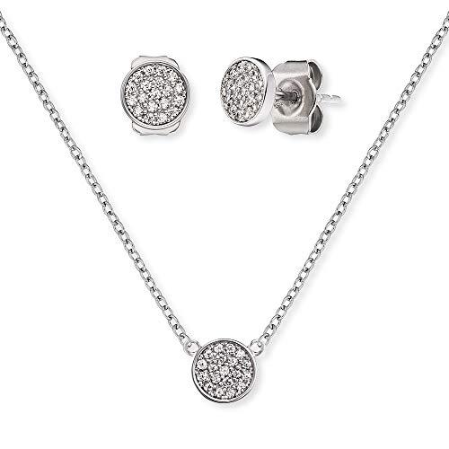 Engelsrufer Set ERMT-LILLUNA3-ZI Halskette und Ohrringe Sterling Silber synthetische Zirkonia