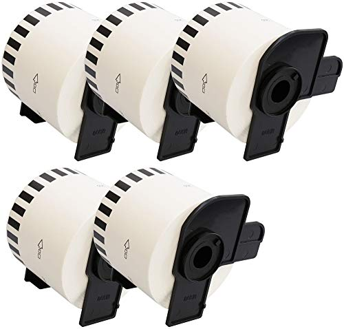 5 Rollen DK-22205 62mm x 30.48m Endlos-Etiketten kompatibel für Brother P-Touch QL-500 QL-550 QL-560 QL-570 QL-580N QL-700 QL-720NW QL-800 QL-810W QL-820NWB QL-1050 QL-1060N QL-1100 QL-1110NWB