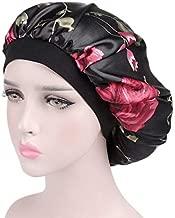 Women Girls Night Cap Beanie Sleeping Cap Salon Bonnet Head Cover Bonnet Keeps Your Hair Frizz Free Tangle Free for Beautiful Hair-Wake Up Perfect Daily