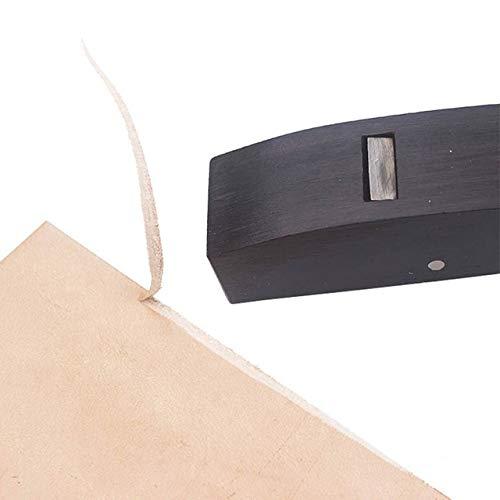 Herramientas de cuero Cuero duro Skiver africana de madera del ébano de herramientas Base Plano de corte biselado de corte cuchillo cuero herramienta de acabado Cuero SleepÅlar. ( Color : Arc Base )