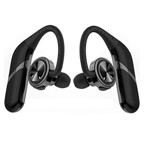 YFINE TWS draadloze Bluetooth headset sweatproof sport hoofdtelefoon HiFi stereo sound headsets zachte siliconen haak oortelefoon met microfoon zwart