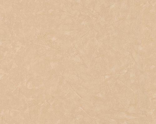 A.S. Création Tapete New England, Uni-, Strukturtapete, Spachteloptik, Putzoptik, beige, 760951