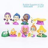 B-Creative 12 unids/set BUBBLE GUPPIES PVC TOY Cake Topper GIL Molly NONNY figura de acción de vinilo