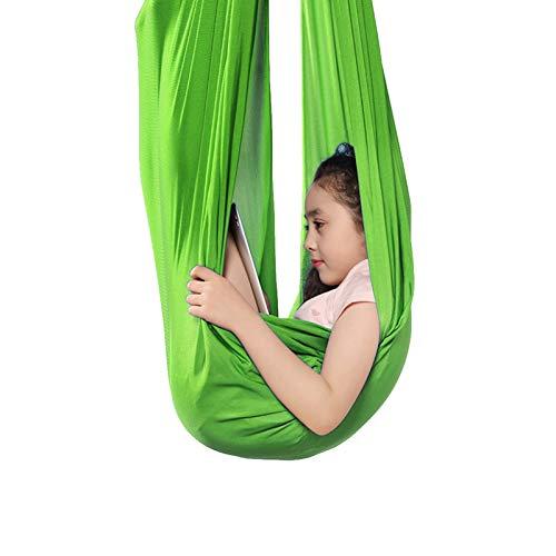 QHY Hamaca para Niños Swing de Terapia Aérea Columpios Infantiles Hamacas De Columpio De Interior para Niños/Adultos con Autismo, TDAH, Asperger E Integración Sensorial para Yoga