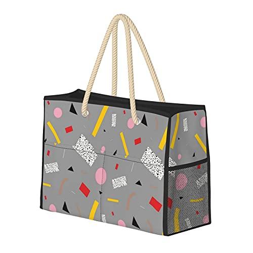 Bolsa de playa grande y bolsa de viaje para mujer – Bolsa de billar con asas, bolsa de semana y bolsa de noche – Memphis Milano Debuilt Tahiti Confeti lámpara de mesa