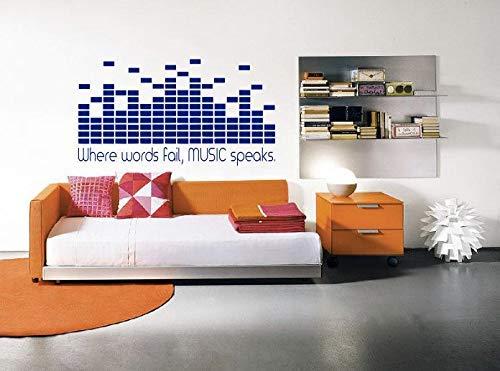 wandaufkleber sterne bunt Where Words Fail Music Speaks Wall Decal Dj Decal Home Decor Equalizer Studio Decor Vinyl Graphic