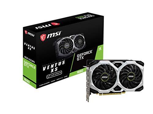 MSI GeForce GTX 1660 VENTUS XS 6G OC, Scheda Grafica, 6GB GDDR5 / PCI Express 3.0 / 1830MHz / 8000MHz