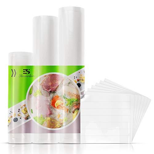3 Rotoli Sacchetti Sottovuoto Alimenti per Macchina Sottovuoto,3 Misure 20x500 28x500 30x500 Sacchetti per Sigillatrice Richiudibili Termosigillabili.Ideali per Cottura e Conservazione, Universali