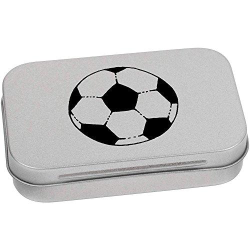Azeeda 95mm x 60mm 'Fußball' Blechdose / Aufbewahrungsbox (TT00009952)