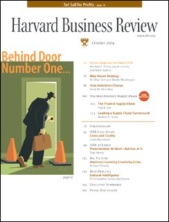 Harvard Business Review, October 2004 cover art