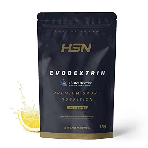 Evodextrin (Ciclodextrinas) de HSN | 100% Cluster Dextrin | Ciclodextrina con Sabor | Carbohidratos Sin Azúcar para Rendimiento y Recuperación | No-GMO, Vegano, Sin Gluten | Limón | 1 Kg