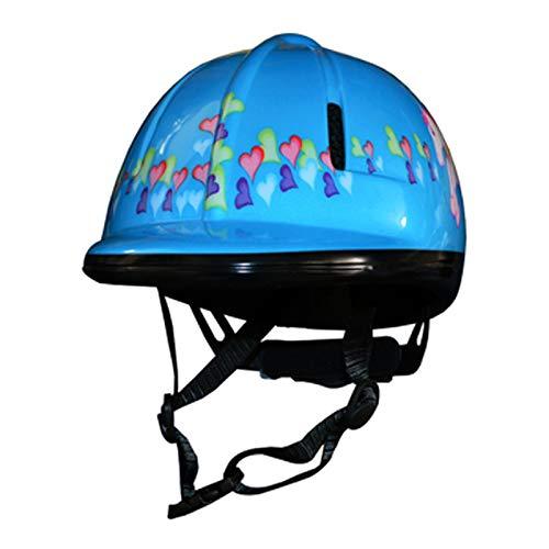 Niños Casco de Montar a Caballo Cascos ecuestres Vintage Unisex Ligero Gorras de Montar Clásico Occidental Ecuestre para niños Cabeza Protector,Blue,S