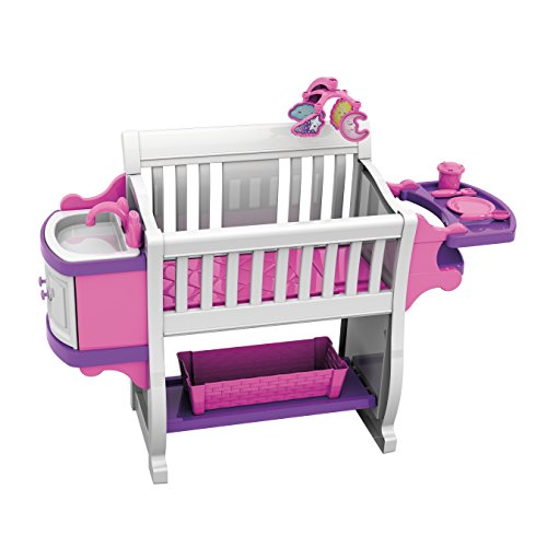 American Plastic Toys Kids' My Very Own Nursery Baby Doll Playset, Doll Furniture, Crib, Feeding Station, Learn to Nurture and Care, Durable and BPA-Free Plastic, for Children Ages 2+