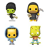 Funko Animation: POP! Simpsons Collectors Set 4 - Reaper Homer, Bart with Chestburster Maggi, Zombie Bart, Witch Marge