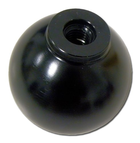 VMS Racing 10x1.25mm Thread 5 Speed Round Ball Type-R Shift Knob in Black Billet Aluminum for Mazda 3 Miata MX3 MX5 MX6 Eunos Protégé 5 323 626 Mazdaspeed JDM