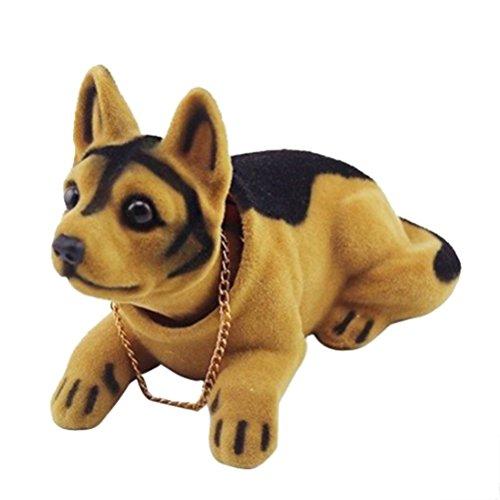 YeahiBaby Cabeza Oscilante Perro Forma Ornamento para Coche - Asiente con la cabeza adornos para juguetes, decoración del tablero de instrumentos (perro de pastoreo)