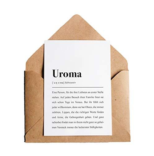 Uroma Definition: DIN A6 Karte mit Umschlag