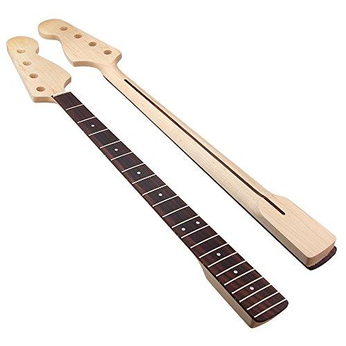 Kmise MI0085 Maple 21 Fret Bass Neck for Fender Bass-JAZZ Rosewood