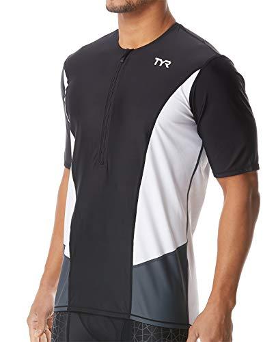 TYR TSSCOM6A60L Men's Comp Sleeveless Top Black/White L