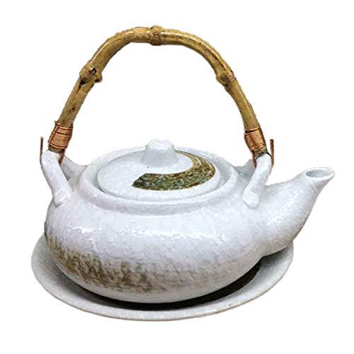 BLANCHO BEDDING Exquisito Destacado Multiusos Estilo Japonés Porcelana Tetera Sopa Olla 13#