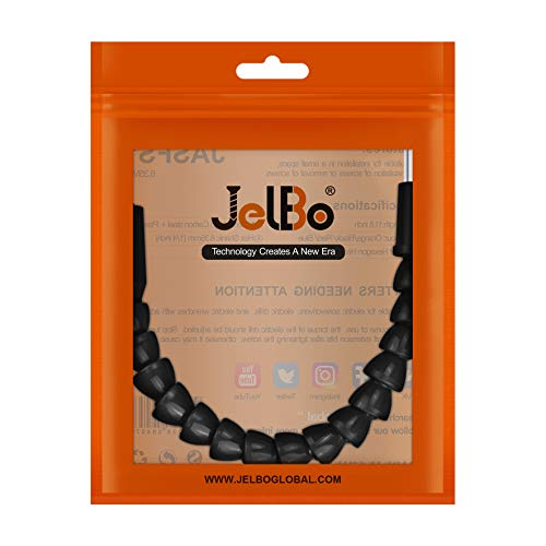 JelBo 11.8 Flexible Drill Bit Extension, 1/4 Hex Shank Magnetic Screwdriver Bit Holder Connect Link, Flex Drive Quick Connect Adapter of Power Tools Accessories by Electric Drill(Black)