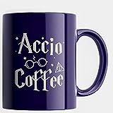 Engraved Ceramic Coffee Mug - Accio Coffee - 11 OZ - Inspirational And Sarcasm, Christmas Gifts - Engraved in the USA