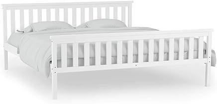 e0ee4d1765de vidaXL Solid Pinewood Bed Frame 180x200cm White 6FT Super King Home Bedroom