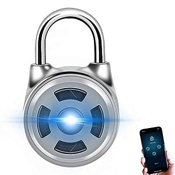 Smart Password Padlock Universal Metal Bluetooth Padlock Electronic Security Lock Security Keyless Padlock for Door Suitcase Backpack Bike Cabinet