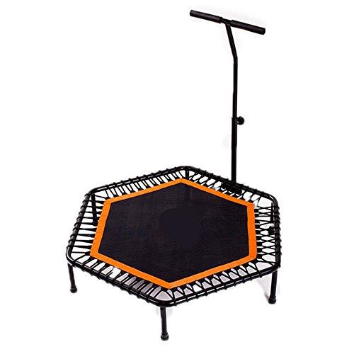 NHY Inch Quadruple Folding Indoor Fitness Achthoekige trampoline voor volwassenen Kids Safety Jump Sport verstelbare leuning Optionele functie zacht gewricht Bungee-touwen