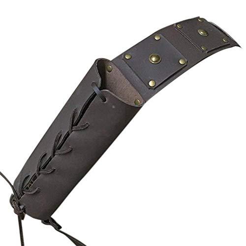 zihui Mittelalterliches Retro-Schwert Schulter Rücken Etui-Halter, verstellbares Krieger-Kostüm Schutzhülle Paar Schwert Leder Schnalle Holster für Erwachsene Herren Schwerthalter