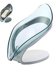 ソープディッシュ せっけんケース 石鹸置き 石鹸箱 石鹸ケース 吸盤式 ソープトレー 葉っぱ型石鹸入れ 水切りスポンジホルダー 壁傷つけない 洗面所 キッチン 浴室