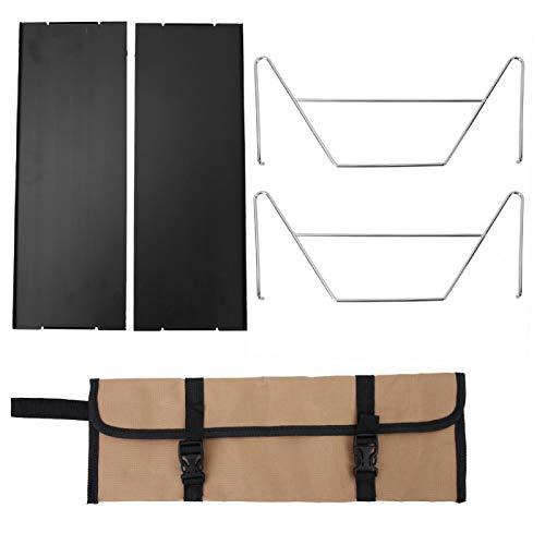 LeKu Mesa Plegable - Aleación de Aluminio Negro Portátil Desmontable Interior Al...