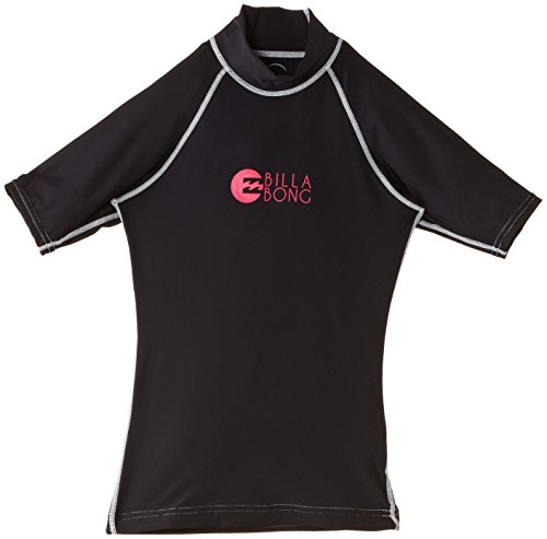 BILLABONG Rash Guards Logo in Short Sleeve - Neopreno para Surf, Color Negro, Talla s