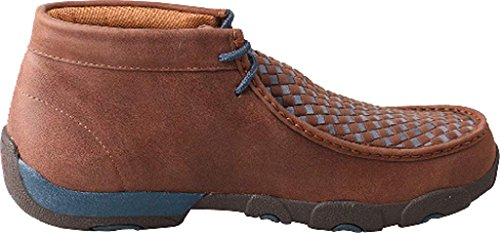 Twisted X Men's Blue Laced Leather Handcrafted Chukka Driving Moccasins, 12 M