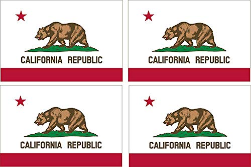 4 stuks California CA Republic State Vlag Auto Decal Bumper Sticker Auto Truck Boot RV Window