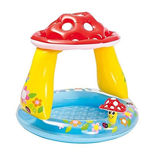 DFJU Piscina Infantil Cogumelo Baby Shade Pool Piscina de Bolas do Oceano Piscina de areia Piscina Redonda coberta para bebês 102x89cm