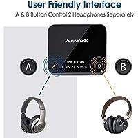 Avantree aptX Low Latency Bluetooth Audio Transmitter for TV PC, Wireless Adapter Splitter (Optical Digital, AUX, RCA…