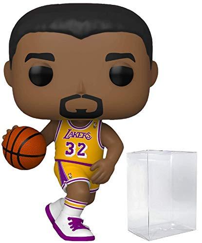 Figura de acción Magic Johnson La Lakers Home Jersey #78 Pop Sports NBA Legends (Bundled with Ecotek Pop Protector para proteger la caja de exhibición)