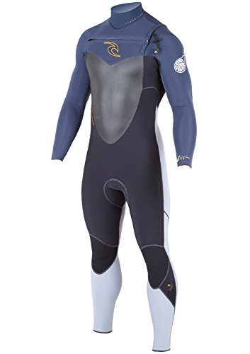 Rip Curl Men's Flash Bomb Chest Zip Entry 3/2 Wetsuit, Large Tall, Black by Rip Curl