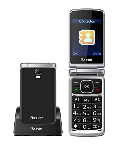 Teléfono Móvil Funker C95 Comfort MAX con Tapa y Pantalla Extragrande, Fácil...